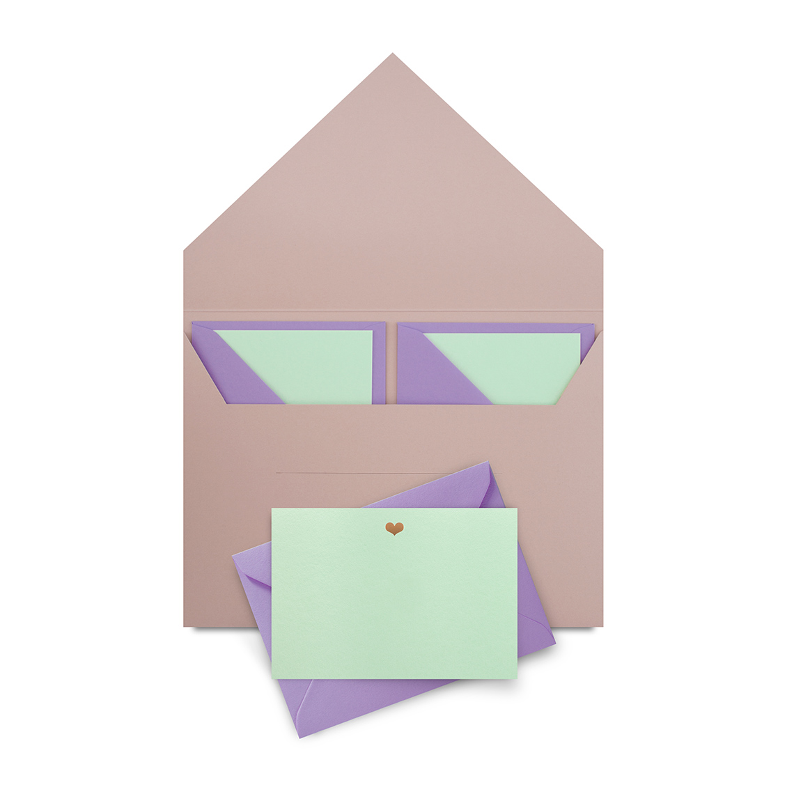 Mini Heart Notelet Set by Studio Sarah